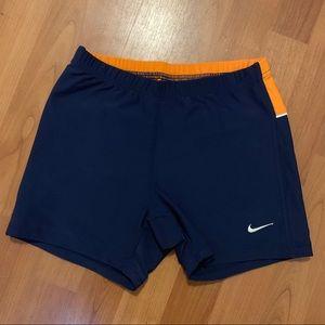 Nike spandex dri-fit sz small. Color Navy/orange